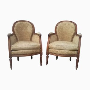 Antique Louis XVI Style Armchairs, Set of 2