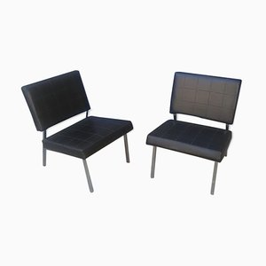 Vintage Leatherette Easy Chairs, Set of 2