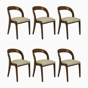 Esszimmerstühle auf Schlittenfüßen von Walter Baumann für Baumann, 1970er, 6er Set