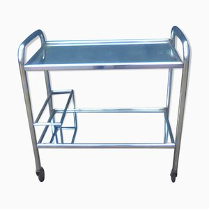 Vintage Chrome Serving Bar Cart