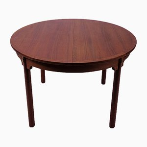 Vintage Teak Circular Dining Table by Børge Mogensen for Karl Andersson & Söner