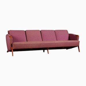 Sofa in Rosa & Rot von Arne Hovmand-Olsen, 1960er