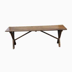 Antique Rustic Elm Tavern Side Table