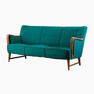 Pine Green 3-Seat Sofa by Erik Ole Jørgensen, 1950s