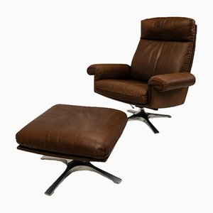 Vintage DS-31 Lounge Chair and Ottoman from de Sede, 1970s
