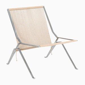 Stainless Steel PK25 Lounge Chair by Poul Kjærholm for Fritz Hansen, 2000s