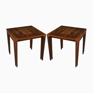 Rosewood Square Coffee Tables, 1950s, Set of 2