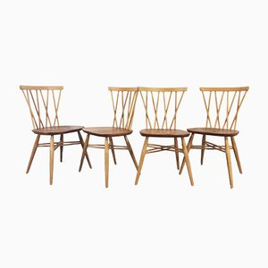 Candlestick Dining Chairs by Lucian Ercolani for Ercol, 1960s, Set of 4