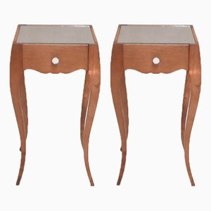 Antique Style Bedside Tables by René Prou, 1940s, Set of 2