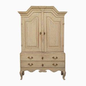 18th-Century Gustavian Swedish Wooden Cabinet, 1750s