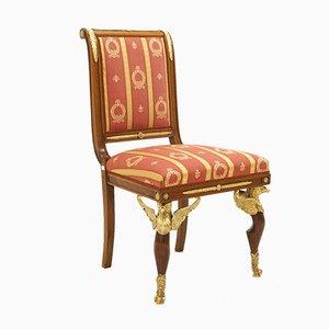 Französischer Empire Stuhl aus Bronze, 1820er
