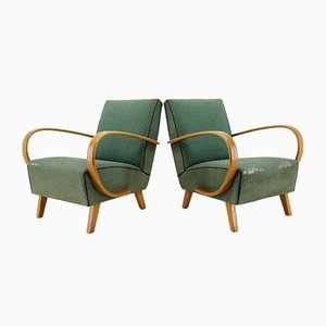 Mid-Century Armchairs by Jindřich Halabala, 1950s, Set of 2