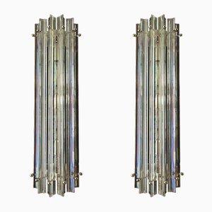 Schillernde Wandlampen aus Muranoglas, 1984, 2er Set
