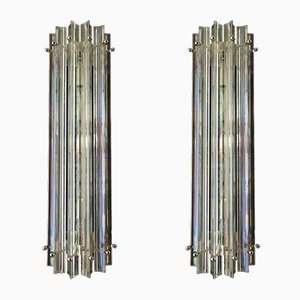 Vintage Iridescent Murano Glass Sconces, 1984, Set of 2