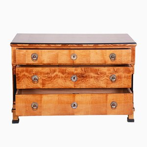 19th Century Austrian Maple Biedermeier Chest of Drawers