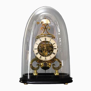 Skeleton Clock with Dome by A.B. Savory & Sons Cornhill, 1850s