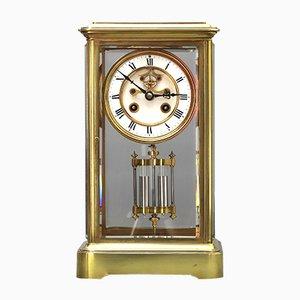 Horloge de Cheminée en Verre par Samuel Marti et Cie, 1870s