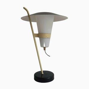 Lampe de Bureau Moderniste Noire et Jaune, France, 1950s