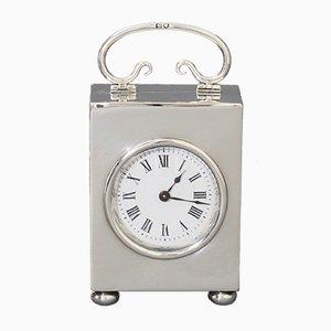 Petite Horloge de Calèche en Argent par W&G Neal, Angleterre, 1906