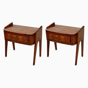 Tables de Chevet par Paolo Buffa, 1950s, Set de 2