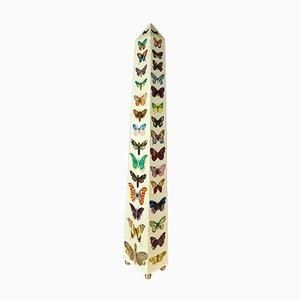 Vintage Obelisk Lampe mit Schmetterling-Dekor von Atelier Fornasetti für Pierro Fornasetti