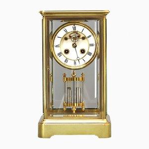 Horloge de Cheminée en Verre par Marti et Cie, 1880s
