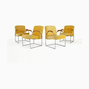 Chairs by Milo Baughman, 1970s, Set of 4