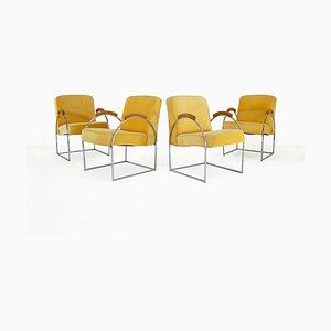 Sedie di Milo Baughman, anni '70, set di 4