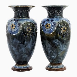 Stoneware Vases from Royal Doulton, 1910s, Set of 2