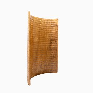 Paravent Antique en Palmier Sculpté à la Main