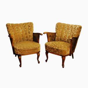 Vintage Art Deco Armchairs, Set of 2