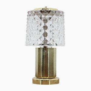 Lampada da tavolo piccola in vetro di Kamenický Šenov, anni '70