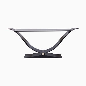 Filigrane Black Lacquer Console Table from ADM