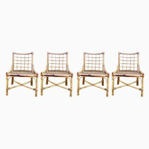 Bamboo Chairs, 1960s, Set of 4