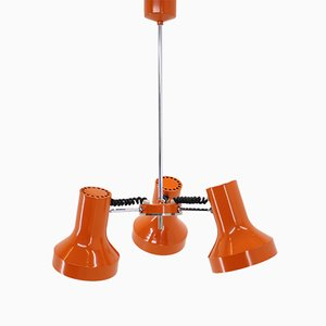 Orange Adjustable Ceiling Lamp from Napako, 1970s