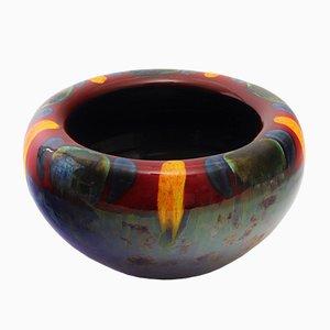 Schale mit lebendiger Glasur von Poole Pottery, 1980er