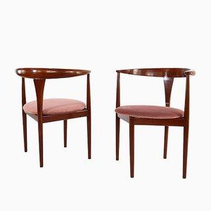 Armlehnstühle von Peter Hvidt für Søborg Møbelfabrik, 1950er, 2er Set