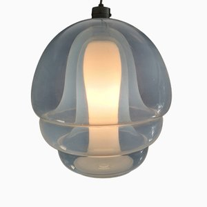 Lampada in vetro opalescente di Carlo Nason per Mazzega, anni '60