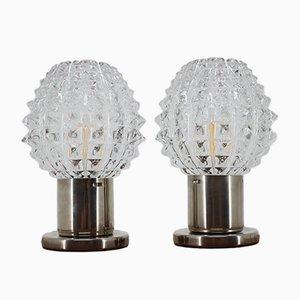 Lámparas de mesa de Kamenický Šenov, años 60. Juego de 2