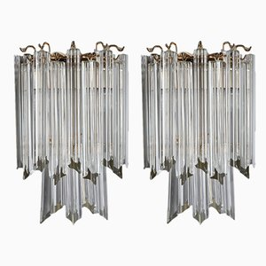 Murano Glass Wall Lights Sconces by Paolo Venini, 1960s, Set of 2