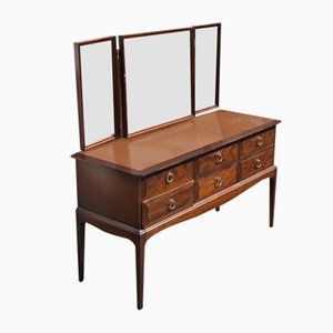 Mahogany Dressing Table with Triple Mirror, 1960s