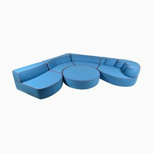 Belgian Flat-Woven Wool Comporta Modular Foam Sofa Set by JPDemeyer Home Collection