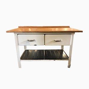 Mesa de trabajo vintage de cocina, años 60