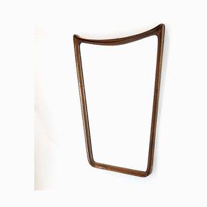 Mid-Century Mahogany Frame Mirror, 1960s