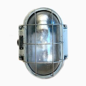 Industrial Cast Aluminum Wall Lamp from Elektrosvit, 1970s