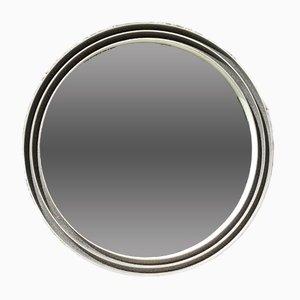 Italienischer Spiegel mit Aluminiumrahmen, 1980er