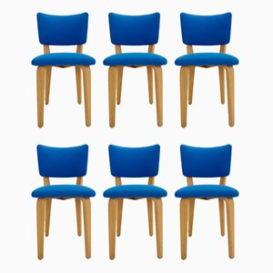 Plywood Dining Chairs by Cor Alons for Gouda den Boer, 1940s, Set of 6