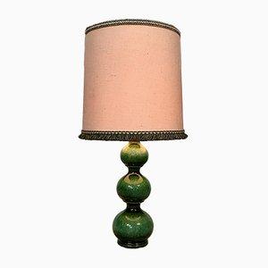 Lámpara de mesa alemana grande de cerámica esmaltada de Kaiser Leuchten, años 60