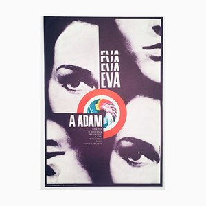 Eva & Adam Movie Poster by Karel Vaca, 1973