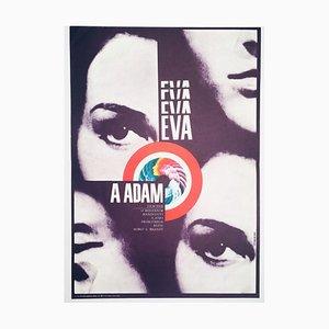 Eva & Adam Movie Poster by Karel Vaca, 1973